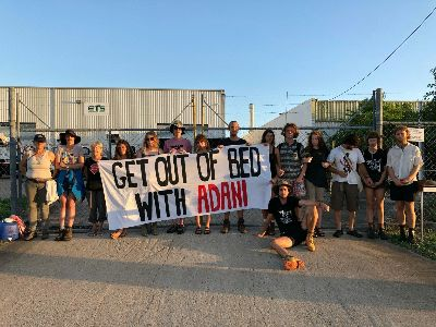 Adani contractor locked up and blockaded