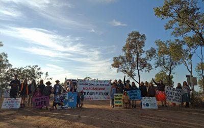 Families block access to Adani's Carmichael mine