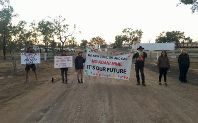 20 people disrupt work on Adani mine to protect water