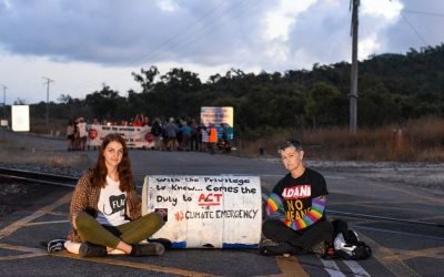 Over 40 people block coal trains and access to Adani's coal terminal