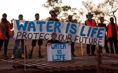 Activists stop work on Adani's rail corridor to protect Suttor River