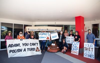 """Media Release: Adani's rebranding called out by activists as """"polishing a turd"""""""