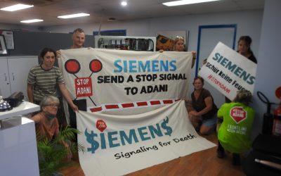 Anti-Adani activists call out Siemens' lies